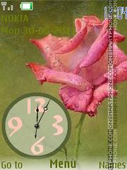 Скриншот темы Rose analog Clock