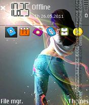 Neon Music Girl es el tema de pantalla