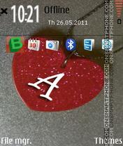 Letter A 05 theme screenshot