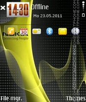 Nokia 7244 theme screenshot