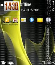 Nokia 7244 es el tema de pantalla