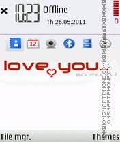Love You So Much theme screenshot