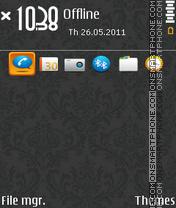Nokia Orange 01 theme screenshot