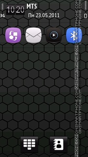 Black transparent 01 es el tema de pantalla