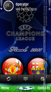 Champions league final 2011 theme screenshot
