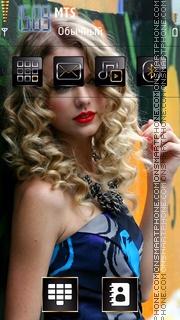 Скриншот темы Taylor Swift Love You