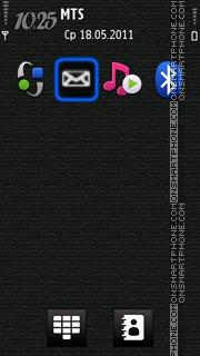 New Iphone Neon Icon tema screenshot