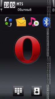 Opera 2011 Dark es el tema de pantalla