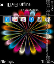 Rainbow colors 02 theme screenshot