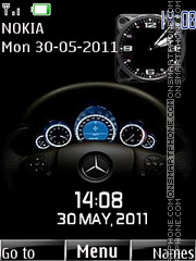 Speed Dual Clock theme screenshot