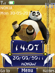 Kung Fu Panda Clock 01 theme screenshot