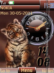 Tiger Cub Clock theme screenshot