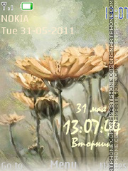 Скриншот темы Flowers Clock3
