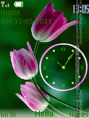 Tulips Clock theme screenshot