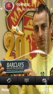 Dimitar Berbatov Top Scorer-20 theme screenshot