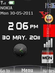 New Style Clock 02 theme screenshot