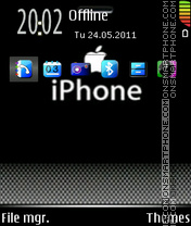 Iphone Black 02 theme screenshot