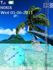 Maldives Clock theme screenshot