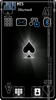 Black Ace Card es el tema de pantalla