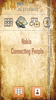 New Nokia Style Menu theme screenshot