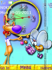 Cartoon Clock 01 theme screenshot