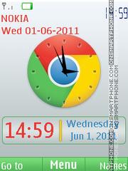 Chrome Clock theme screenshot