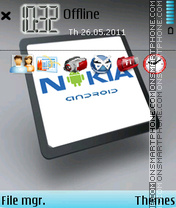 Nokia Android theme screenshot