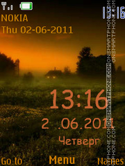 Nice Sunset tema screenshot