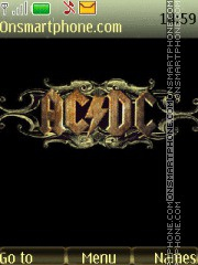 AC DC 06 theme screenshot