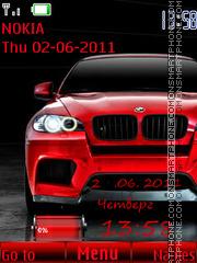 Bmw x6 08 theme screenshot