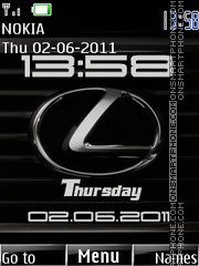 Lexus Clock theme screenshot