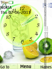Fruit Cocktail Clock theme screenshot