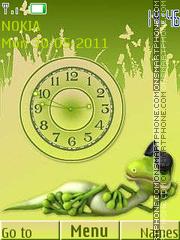 Funny Reptile Clock theme screenshot