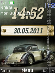 Car and Digital Date Clock theme screenshot