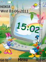 Ducks Clock theme screenshot