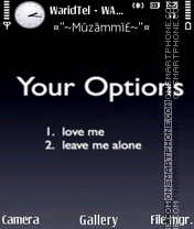 Your Options 01 es el tema de pantalla