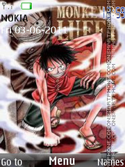 Straw Hat Luffy 02 theme screenshot
