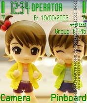 Cute Couple theme screenshot