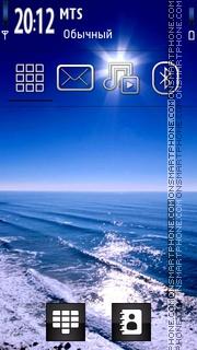 Blue Sunset tema screenshot