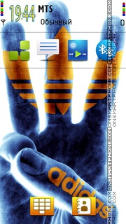 Adidas Hand theme screenshot