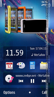 Nokia N8 All Blue 01 theme screenshot