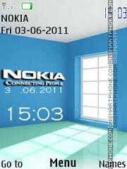 Nokia Room Clock theme screenshot