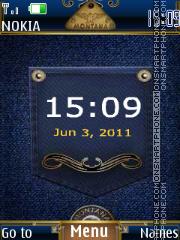 Скриншот темы Jeans clock