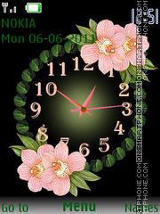 Orchid Clock es el tema de pantalla