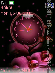 Orchid and Clock theme screenshot