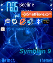 Symbian 9 theme screenshot