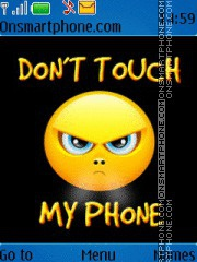 Dont touch my phone es el tema de pantalla