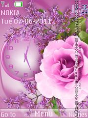 Violet imagination theme screenshot