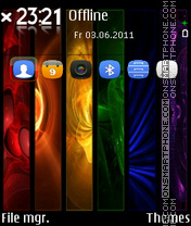 Colorful Abstract 03 theme screenshot
