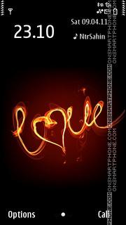 Love3 01 es el tema de pantalla